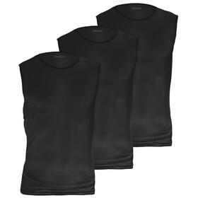 GripGrab Ultralight Koszulka bazowa bez rękawów Mesh 3-pak, czarny